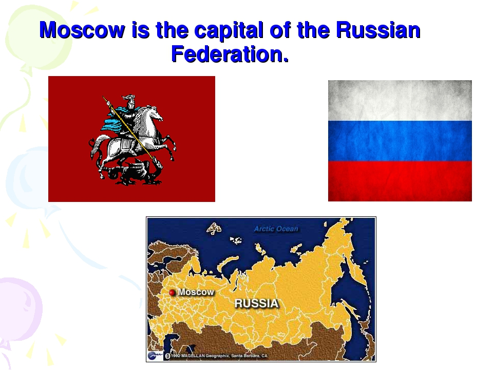 Moscow is the capital of the Russian Federation.