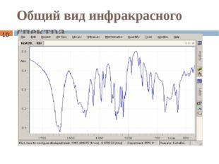 Общий вид инфракрасного спектра