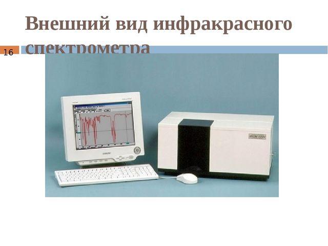 Внешний вид инфракрасного спектрометра