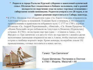 Родился в городе Рыльске Курской губернии в зажиточной купеческой семье. Шели