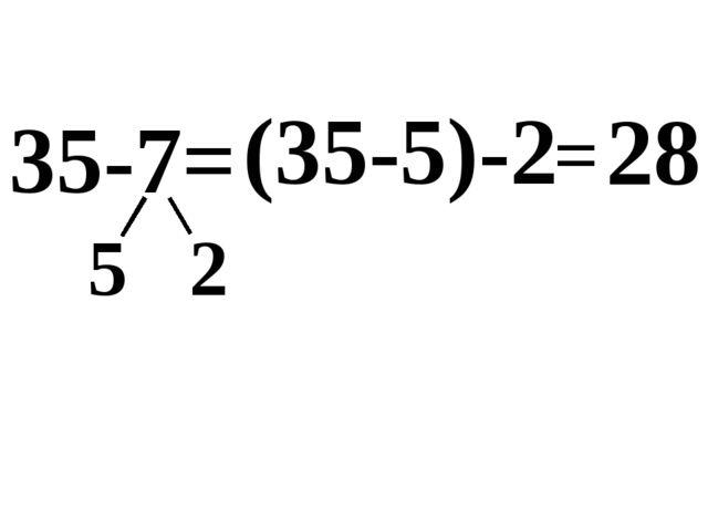 35-7= 5 2 (35-5) 28 -2 =