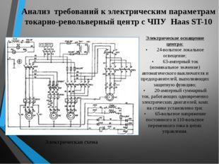 Анализ требований к электрическим параметрам токарно-револьверный центр с ЧПУ