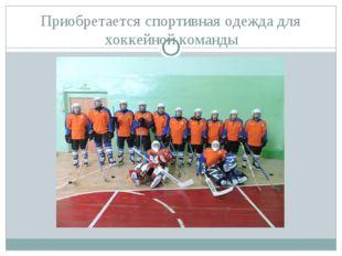 Приобретается спортивная одежда для хоккейной команды
