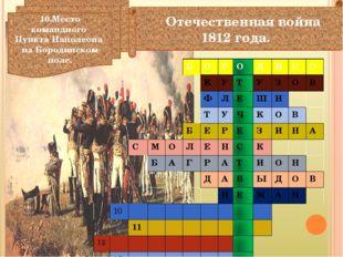 Отечественная война 1812 года. 10.Место командного Пункта Наполеона на Бород