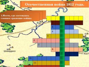 Отечественная война 1812 года. 1.Место, где состоялась главное сражение войны