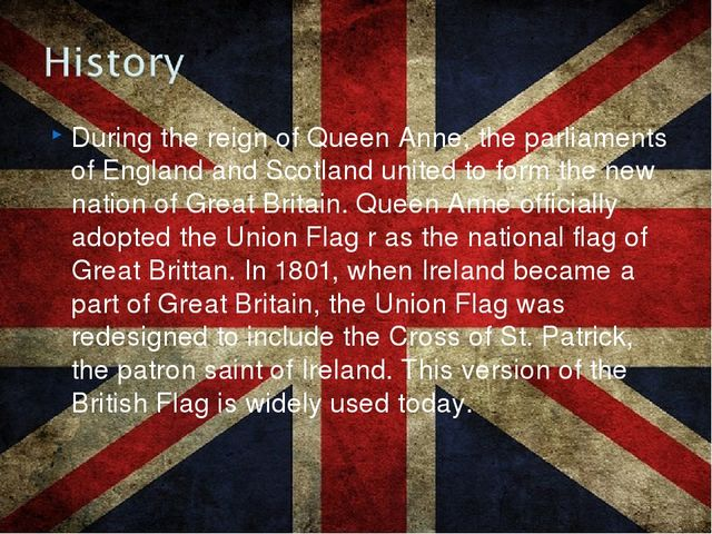 During the reign of Queen Anne, the parliaments of England and Scotland unite...