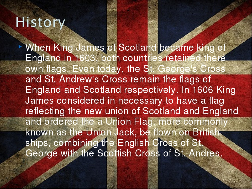 When King James of Scotland became king of England in 1603, both countries re...