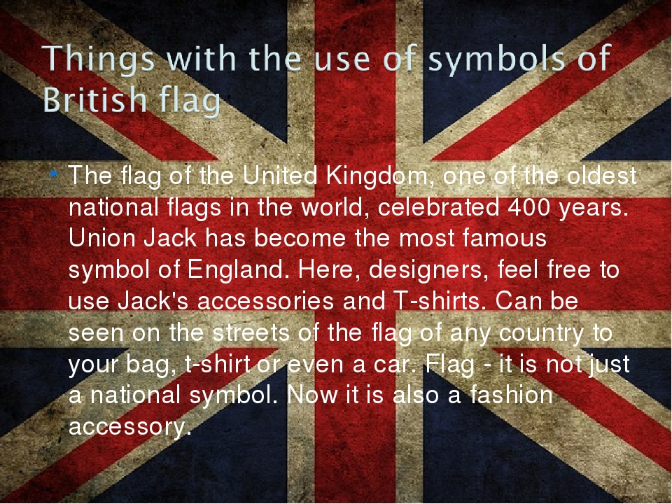 The flag of the United Kingdom, one of the oldest national flags in the world...
