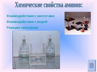 Взаимодействие с кислотами Взаимодействие с водой Реакции окисления