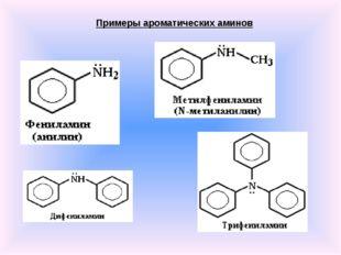 Примеры ароматических аминов