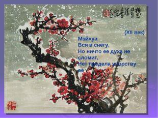 (XII век) Мэйхуа Вся в снегу. Но ничто ее духа не сломит, Нет предела упорст