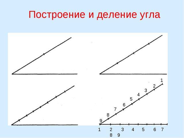 Построение и деление угла 1 2 3 4 5 6 7 8 9 1 2 3 4 5 6 7 8 9