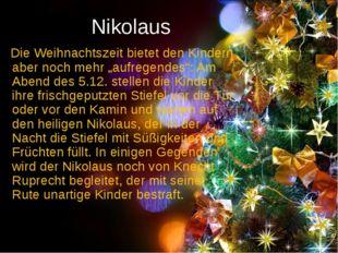 """Nikolaus Die Weihnachtszeit bietet den Kindern aber noch mehr """"aufregendes"""":"""