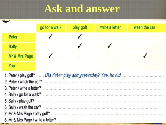 Ask and answer