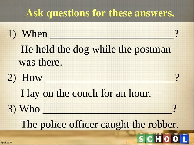 Ask questions for these answers. 1) When _______________________? He held the...