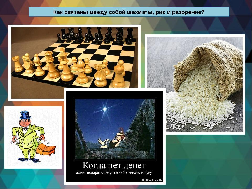 Как связаны между собой шахматы, рис и разорение?