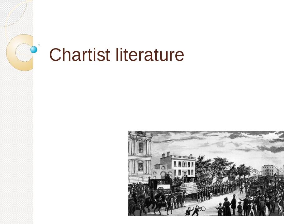 Chartist literature