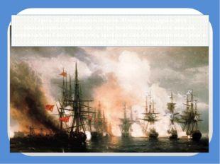Утром 18 (30) ноября в 9 часов 30 минут эскадра в двух кильватерных колоннах,