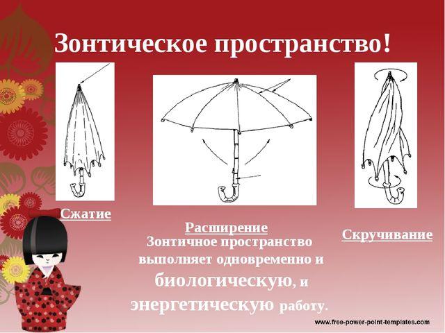 Зонтическое пространство! Сжатие Расширение Скручивание Зонтичное пространств...