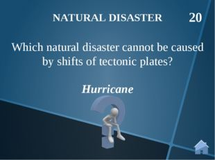 Hurricane Which natural disaster cannot be caused by shifts of tectonic plate