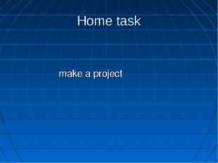 Home task make a project