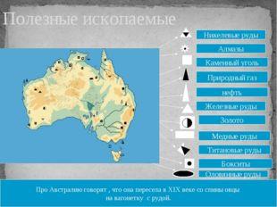 Про Австралию говорят , что она пересела в ХIХ веке со спины овцы на вагонетк