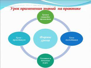 Урок применения знаний на практике