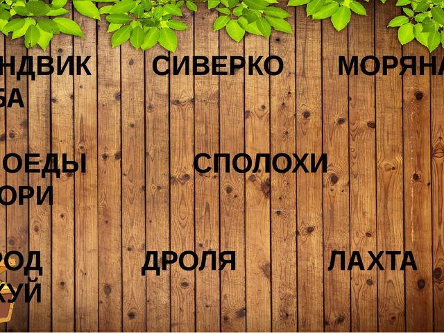 ГАНДВИК – (Студёное, Дышащее) древнее былинное название Белого моря СИВЕРКО –...
