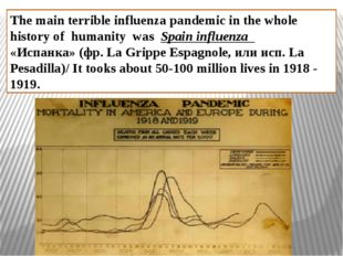 The main terrible influenza pandemic in the whole history of humanity was Spa