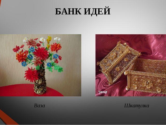 БАНК ИДЕЙ Ваза Шкатулка