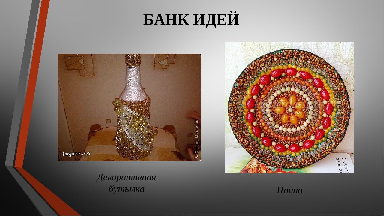 БАНК ИДЕЙ Декоративная бутылка Панно