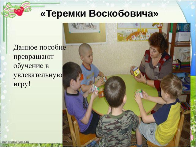 «Теремки Воскобовича» Данное пособие превращают обучение в увлекательную игру!