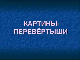 КАРТИНЫ- ПЕРЕВЁРТЫШИ