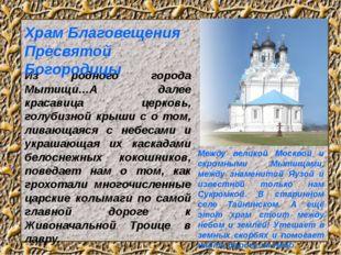 Из родного города Мытищи…А далее красавица церковь, голубизной крыши с о том