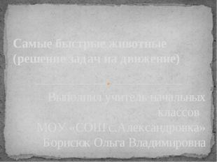 Выполнил учитель начальных классов МОУ «СОШ с.Александровка» Борисюк Ольга Вл