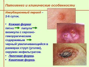 Патогенез и клинические особенности  Инкубационный период –  2-6 суток.