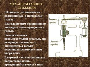 Шпиндель установлен на подшипниках в пустотелой гильзе . Благодаря этим подши