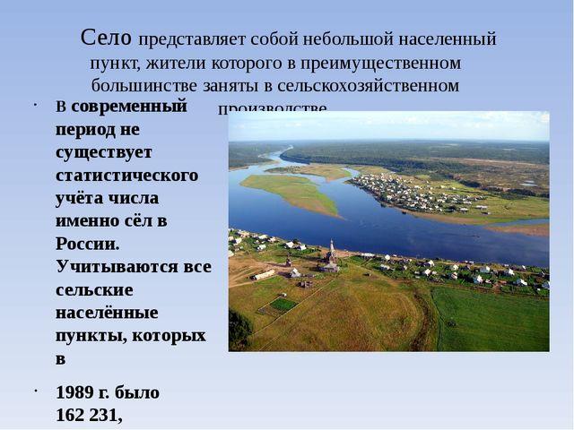 Село представляет собой небольшой населенный пункт, жители которого в преиму...