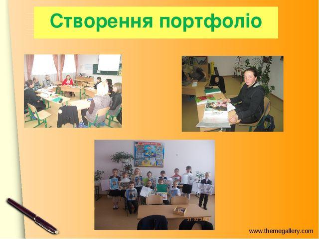 Створення портфоліо www.themegallery.com
