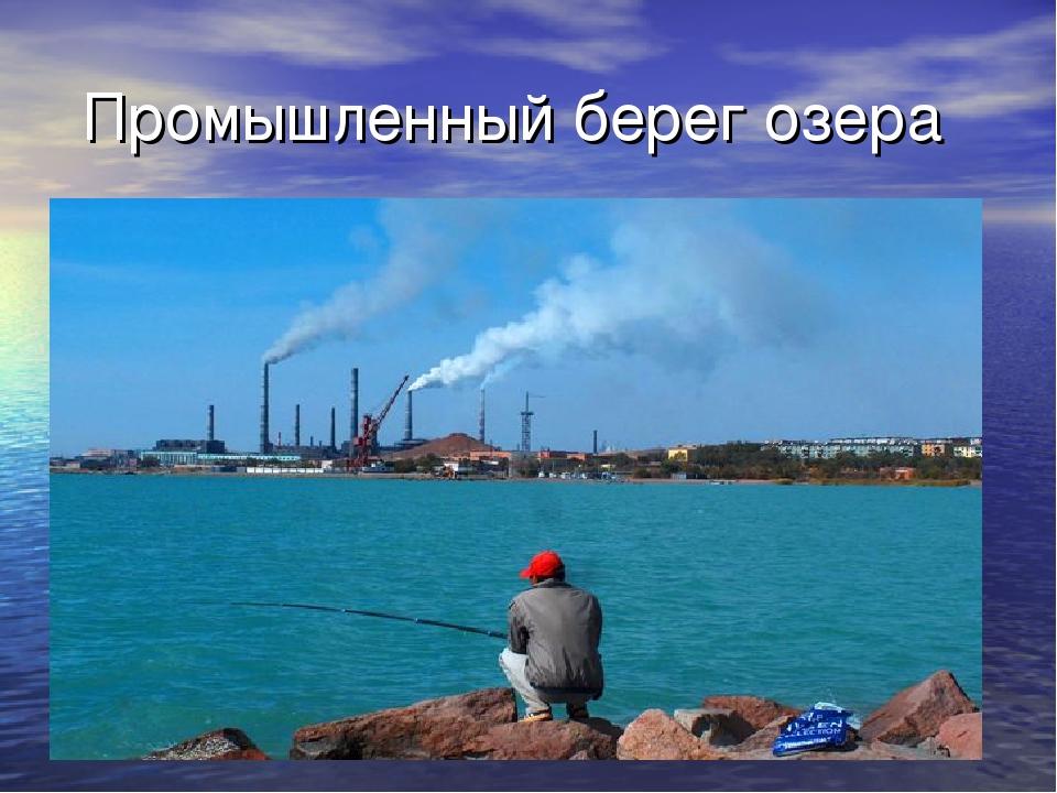 Промышленный берег озера