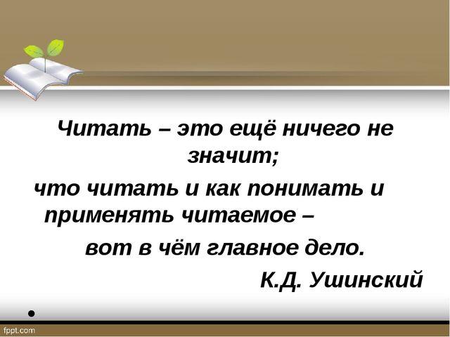 Читать – это ещё ничего не значит; что читать и как понимать и применять чит...