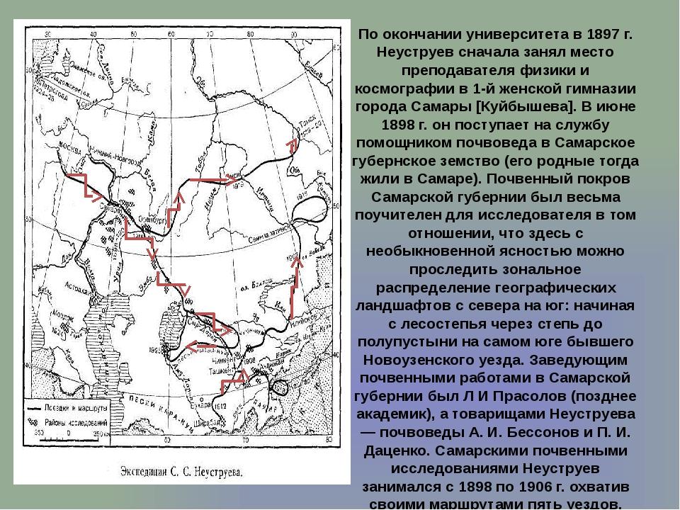 По окончании университета в 1897 г. Неуструев сначала занял место преподавате...