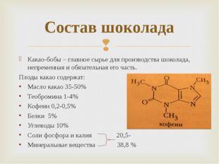 Какао-бобы – главное сырье для производства шоколада, непременная и обязатель