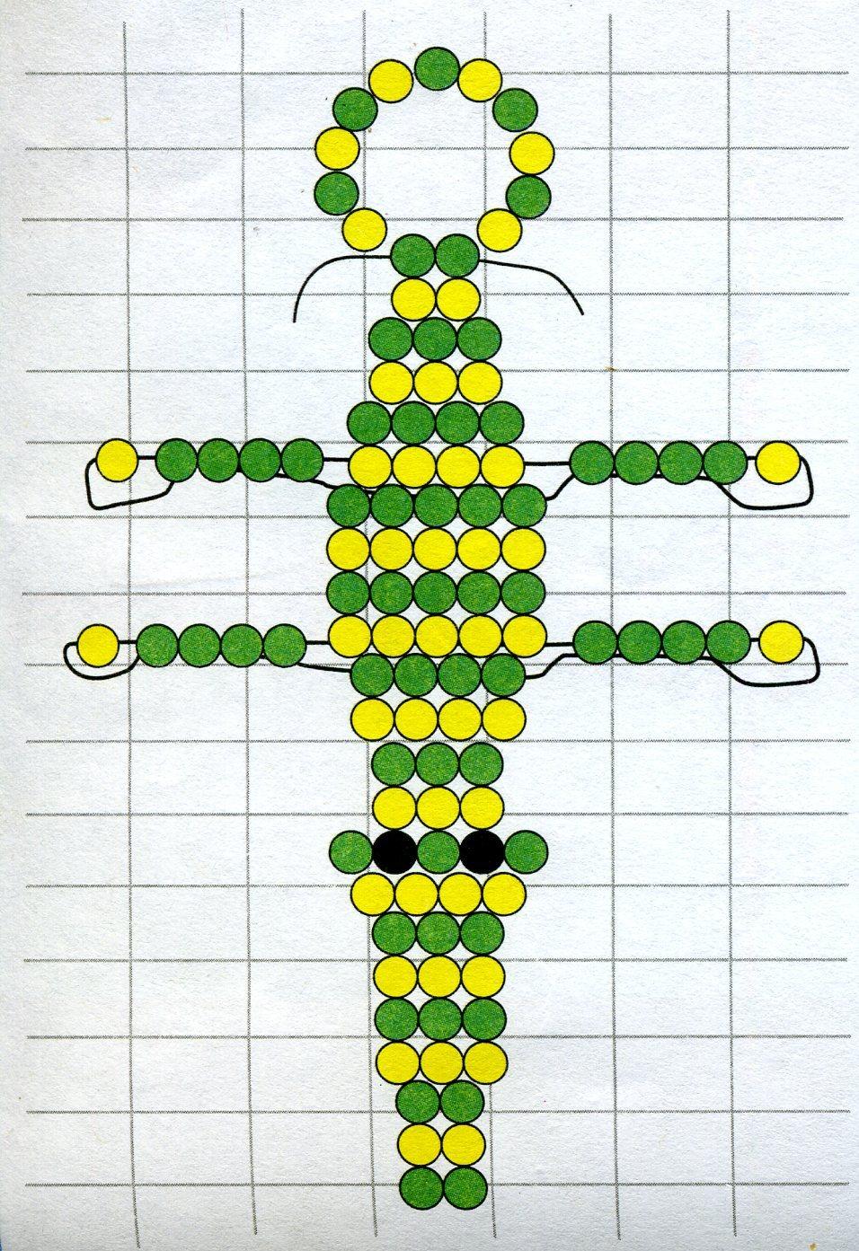 Схем плетения из бисера крокодильчик