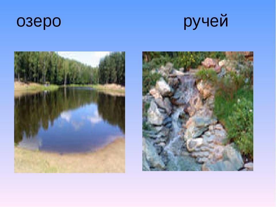 озеро ручей