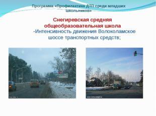 Программа «Профилактика ДТП среди младших школьников» Снегиревская средняя об