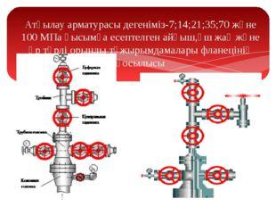 Атқылау арматурасы дегеніміз-7;14;21;35;70 және 100 МПа қысымға есептелген ай