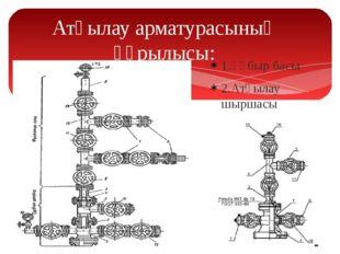 Атқылау арматурасының құрылысы: 1.Құбыр басы 2.Атқылау шыршасы