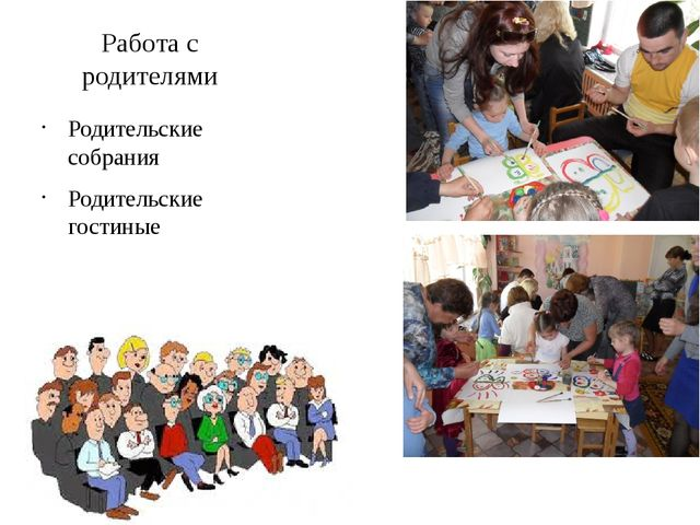 Работа с родителями Родительские собрания Родительские гостиные