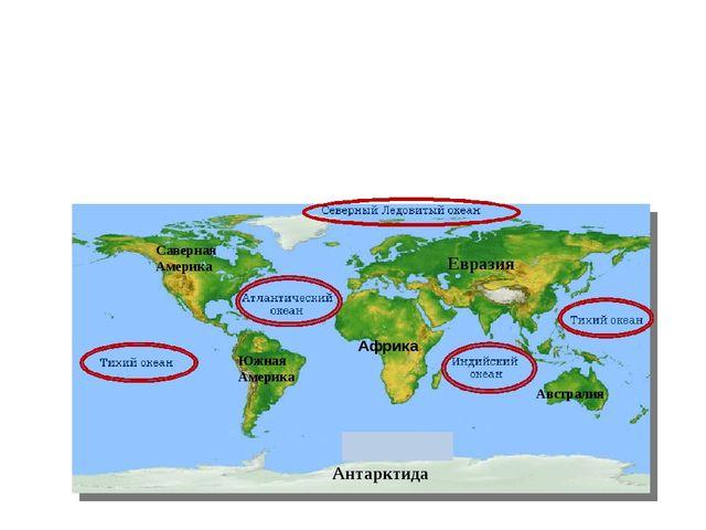 Африка Саверная Америка Южная Америка Евразия Австралия Антарктида